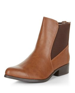 Tan Pointed Chelsea Boots  | New Look