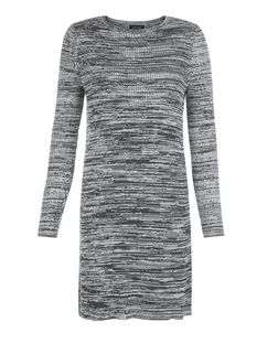 Grey Space Dye Long Sleeve Dress  | New Look