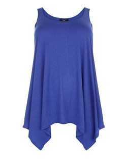 Plus Size Purple Hanky Hem Vest | New Look