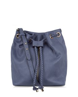 Blue Zip Front Duffle Bag  | New Look