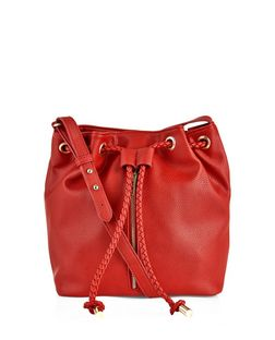 Red Zip Front Duffle Bag  | New Look