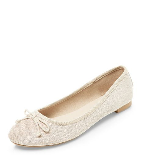Cream Flecked Ballet Pumps  | New Look