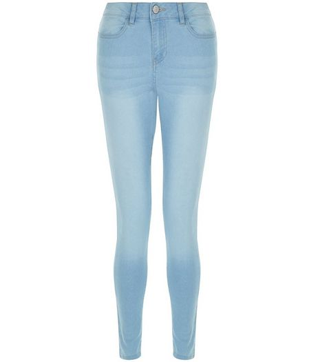 Teens Blue Bleached Jeggings | New Look
