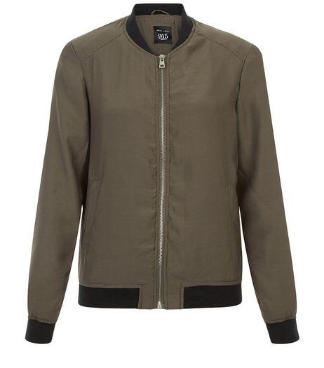 Teens Khaki Lightweight Bomber Jacket | New Look