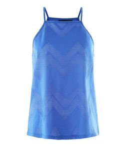 Blue Zig Zag Jacquard Cami | New Look