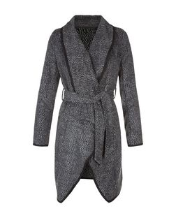 Blue Vanilla Grey Woven Belted Jacket | New Look