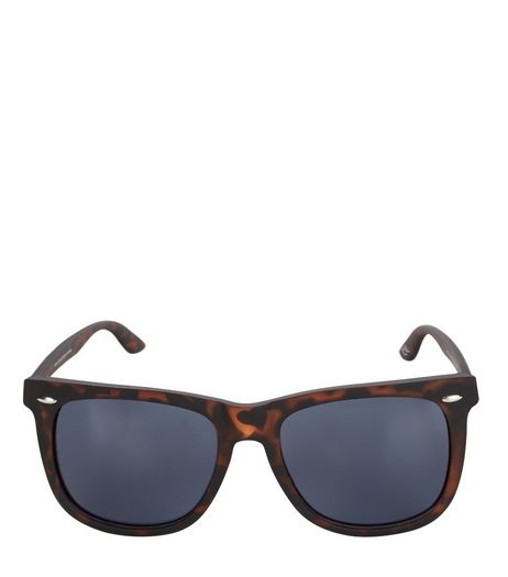 Brown Tortoiseshell Square Sunglasses  | New Look