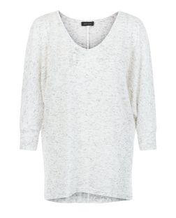 Grey Fine Knit Batwing Jumper | New Look
