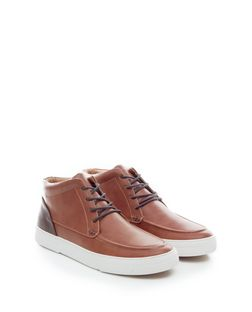 Tan Colour Block Chukka Boots  | New Look