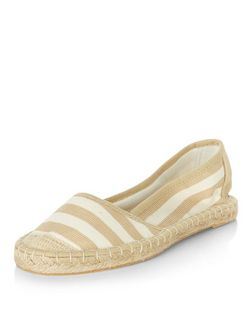 Cream Stripe Espadrilles  | New Look