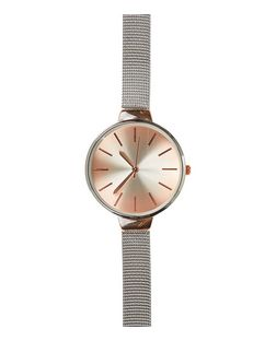 Silver Mesh Skinny Strap Watch | New Look