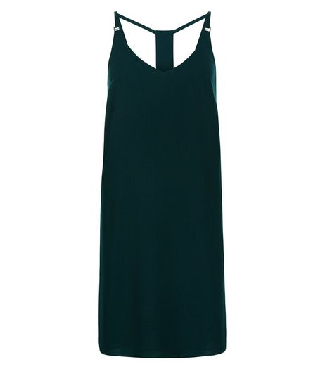Dark Green Cami Slip Dress  | New Look