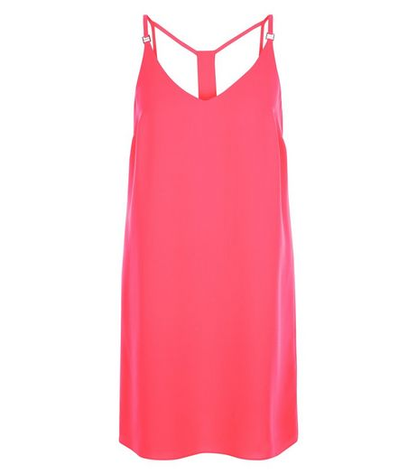Bright Pink Cami Slip Dress  | New Look