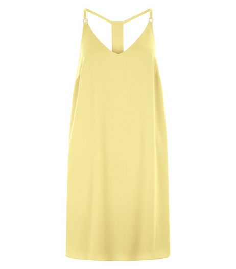 Mid Yellow Cami Slip Dress  | New Look
