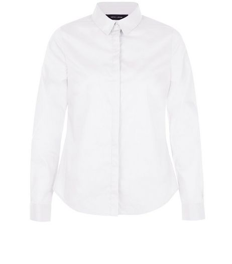 White Long Sleeve Shirt | New Look