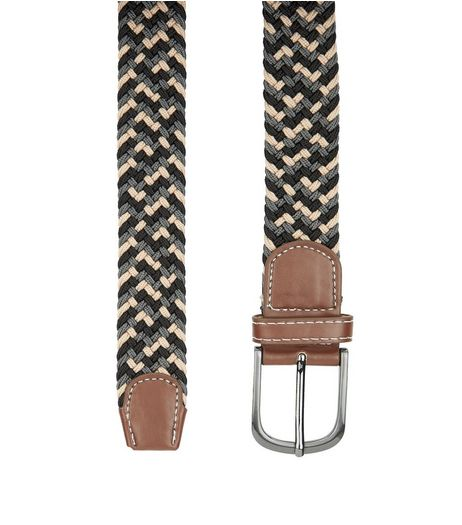 Tan Braid Elasticated Belt  | New Look