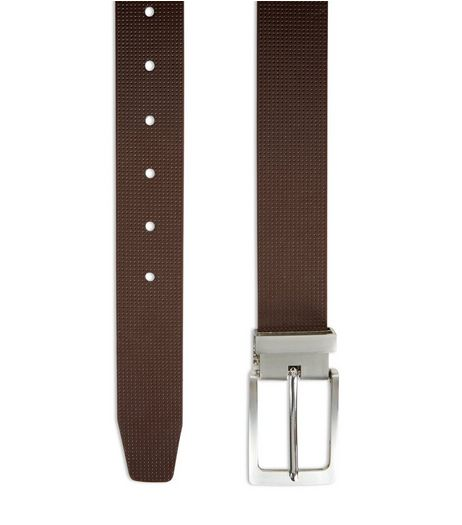 Brown Perforated Belt  | New Look
