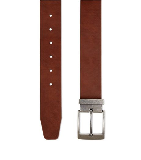Brown Textured Belt  | New Look