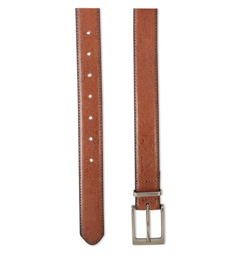 Tan Leather-Look Belt  | New Look