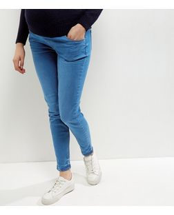 Maternity Blue Under Bump Authentic Skinny Jeans  | New Look