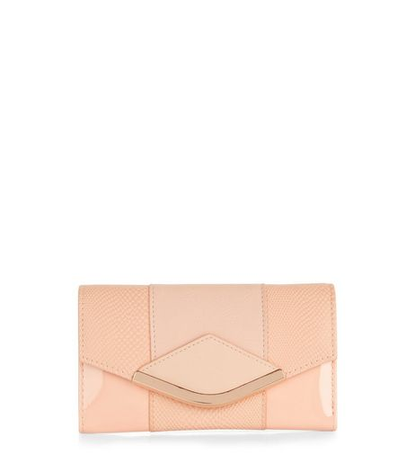 Stone Textured Panel Purse  | New Look