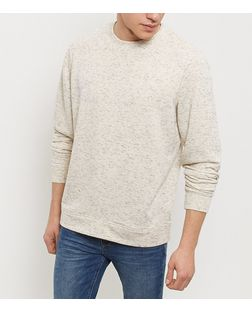 Stone Flecked Crew Neck Sweater  | New Look