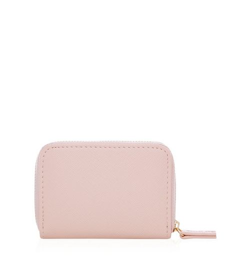Stone Mini Zip Around Card Holder  | New Look