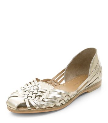 gold-leather-woven-sandals