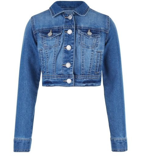 Girls Blue Denim Jacket  | New Look
