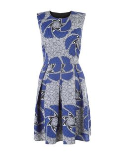 Cutie Blue Abstract Print Dress | New Look