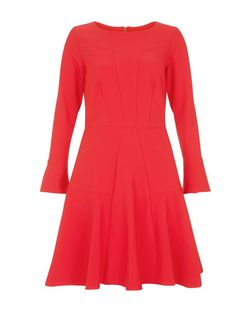 Closet Red Flared Panel Dress | New Look