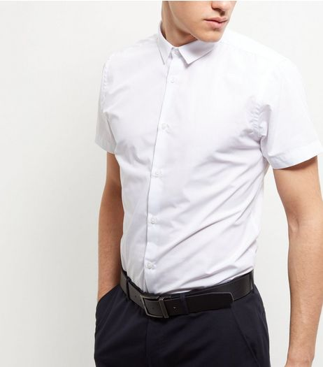 White Short Sleeve Shirt  | New Look
