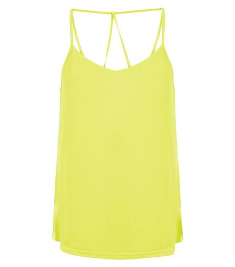 Lime Crepe Strappy Cami | New Look