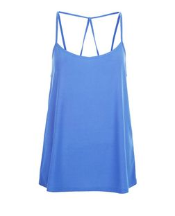 Blue Crepe Strappy Cami | New Look