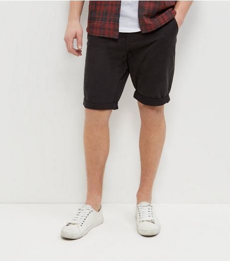 Dark Grey Chino Shorts | New Look