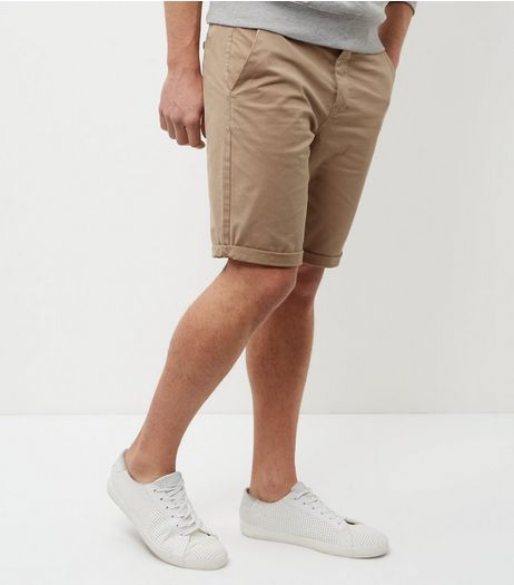 Stone Chino Shorts | New Look