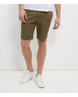 Khaki Tailored Shorts  | New Look