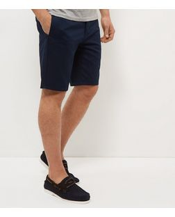 Blue Tailored Shorts  | New Look