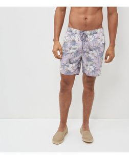 Pink Floral Print Swim Shorts | New Look