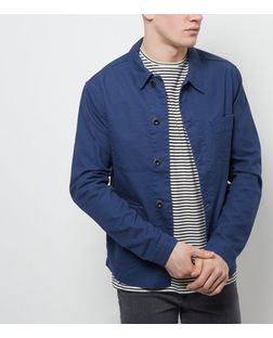 Blue Double Pocket Denim Jacket  | New Look