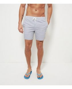 Blue Stripe Swim Shorts  | New Look