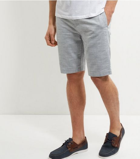 Pale Grey Space Dye Shorts  | New Look