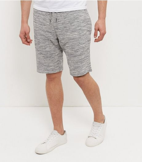 Grey Textured Knitted Shorts  | New Look