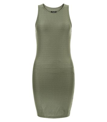 petite-khaki-textured-bodycon-dress