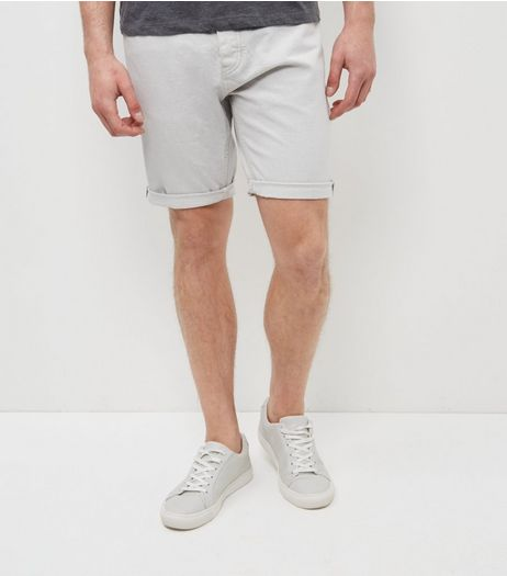 Grey Turn Up Denim Shorts  | New Look