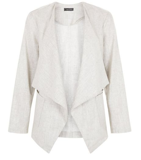 Stone Textured Waterfall Blazer  | New Look