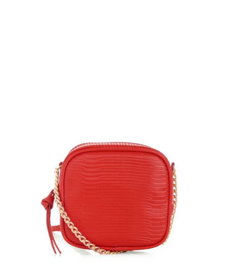 Red Square Across Body Bag  | New Look