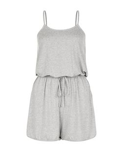 Grey Strappy Playsuit  | New Look