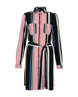 Cameo Rose Pink Stripe Shirt Dress | New Look