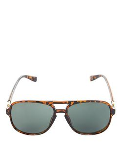 Brown Tortoiseshell Bar Top Sunglasses | New Look
